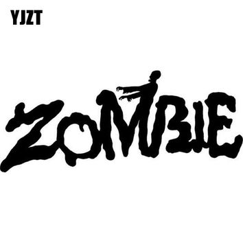 YJZT 19.8CMX8CM Interesting ZOMBIE Bloody Outbreak Decal Blood Vinyl Car-styling Car Sticker Black/Silver S8-1151