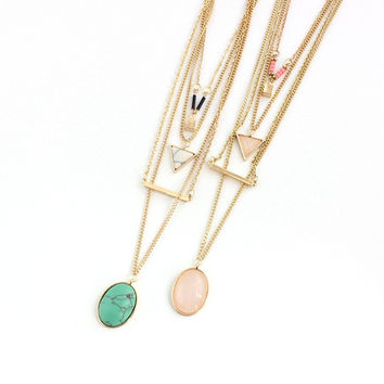 Jewelry New Arrival Stylish Gift Shiny Accessory Turquoise Necklace [10794314119]