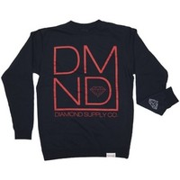 Diamond Supply DMND Crewneck Sweatshirt in Navy (S2DMNDC-NVY)