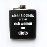 Ron Swanson Flask Parks and Recreation Clear Alcohols Quote Parks and Rec Funny Humor Boyfriend Girlfriend Gift Flask