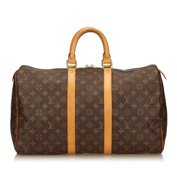Tagre™ Louis Vuitton Vintage Monogram Keepall 55 Duffle Travel Bag 55