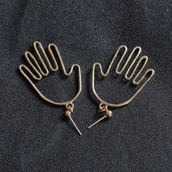 SIMPLE HAND EARRINGS