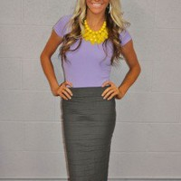 State of the Perfection Pencil Skirt Charcoal - Modern Vintage Boutique