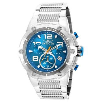 Invicta 19527 Men's Speedway Blue Dial Steel Bracelet Chronograph Watch