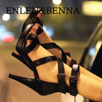 ENLEN&BENNA New summer shoes women fashion platform women sandals sexy thin heels high heels sandals open toe gladiator shoes
