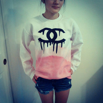 ON SALE Dripping Chanel Sweatshirt