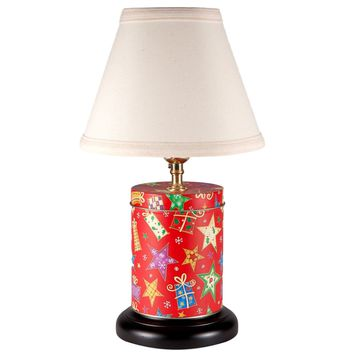 Red Christmas Caddy Lamp