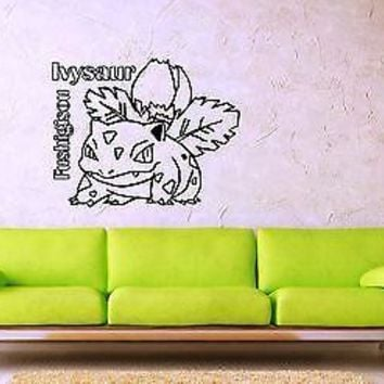 Wall Stickers Vinyl Decal Pokemon Fushigisou Anime Cartoon Kids Nursery ig1110