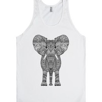 Elephant Summer Top-Unisex White Tank