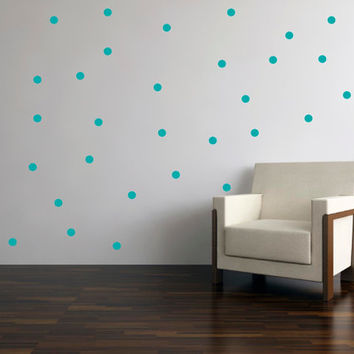 "Polka Dot wall decal stickers 2"" dots custom colors  - 22, 66 or 88 dots"