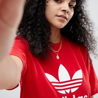 adidas Originals Red Trefoil T-Shirt