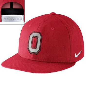 Nike Ohio State Buckeyes Player's Snapback Cap - Men, Size: One Size (Red)