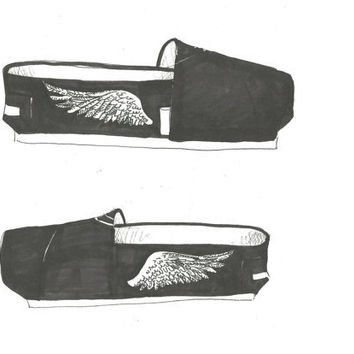 wings painted on TOMS shoes by Lisarachel on Etsy