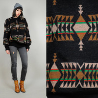 vtg 70's PENDLETON wool Southwestern NAVAJO American Indian sweater native jumper unisex Large
