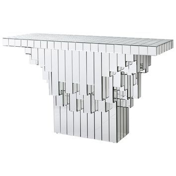 Cubic Contemporary Mirrored Console Table by Cyan Design