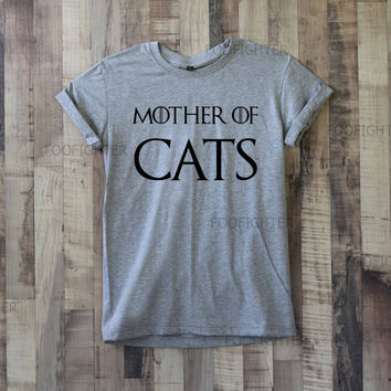 Mother of Cats Shirt T Shirt Top Tee Unisex  – Size S M L XL XXL