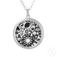 Silver Yin Yang Dress Jewelery Personalized Necklace | Zazzle.co.uk