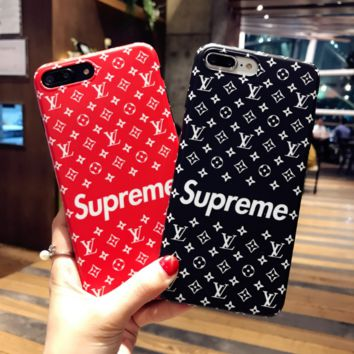 Hot LV* Supreme Print  Iphone X 8 8 Plus/7 7 Plus/ 6 6s Plus Cover Case