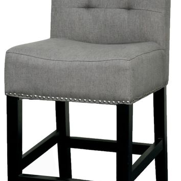 Scott Fabric Counter Stool, Gun Metal