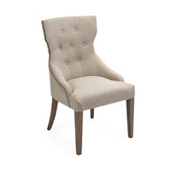 Cream Tufted Dining Chair