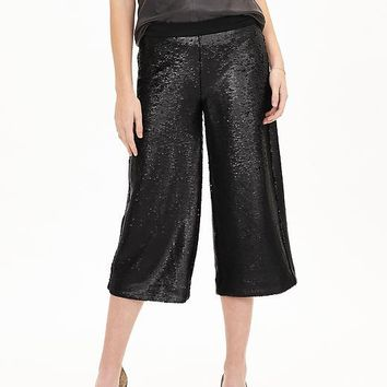 Banana Republic Womens Monogram Sequin Gaucho Pant