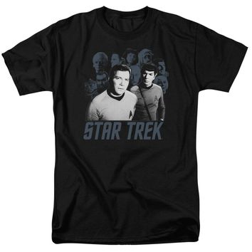 Star Trek - Kirk Spock And Company Short Sleeve Adult 18/1