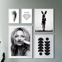 Cuadros Posters And Prints Wall Art Canvas Painting Wall Pictures For Living Room Nordic Picture Smile Girl No Poster Frame