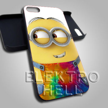 Tie Dye Minion Costume - iPhone 4/4s/5 Case - Samsung Galaxy S3/S4 Case - Black or White