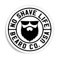 Beard Company Round Vinyl Sticker