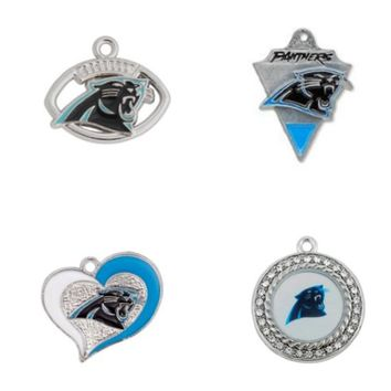 Enamel Football Team Carolina Panthers Charm For DIY Necklace & Bracelet & Earring Sport Pendant Charms Jewelry