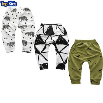 2017 New Spring and Autumn Lovely Children Character Cotton Striped Pants Newborn Boy Children's Clothing Children's Pants CP181