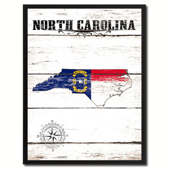 North Carolina State Flag Gifts Home Decor Wall Art Canvas Print Picture Frames
