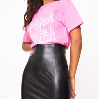 Black Back Zip Faux Leather High Waisted Mini Skirt