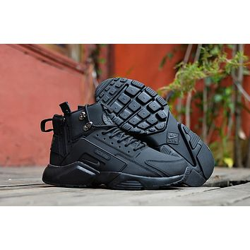Huarache X Acronym City Mid Leather Black Sneaker Shoes | Best Deal Online