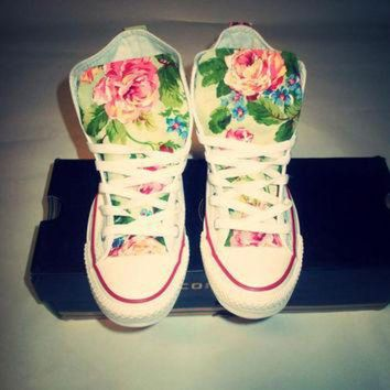 DCKL9 NEW YEARS SALE!!! Spring Floral Converse Shoes