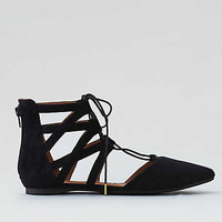 AEO D'Orsay Lace-Up Flat, Black