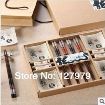 China wind tableware set Japanese sushi tableware Classic Wedding Gift Sushi dish set