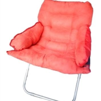 College Club Dorm Chair - Plush & Extra Tall - Ugly Red Dorm Seating College Chairs Cheap Seating Cool Dorm Items Fun Stuff