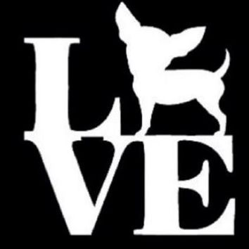 Love chihuahua sticker