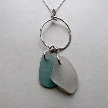 Sea Glass Sterling Silver Necklace