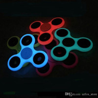 6 Colors Luminous HandSpinner Toy EDC Glow In The Dark Hand Spinners Toy Fidget Spinner for Decompression Anxiety Glow Finger Toy