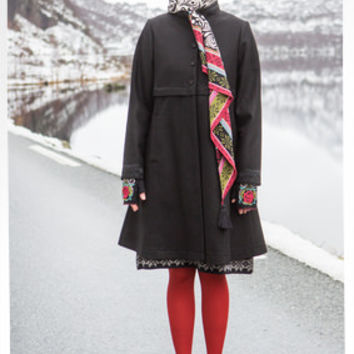 """Oda"" coat in wool – Coats & jackets – GUDRUN SJÖDÉN – Webshop, mail order and boutiques 