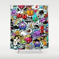 Bizarre Graffiti #1 Shower Curtain by Vecster