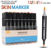 FINECOLOUR Sketch Skin Tones 12 24 36 Colors Artist Dual Head Markers Set  for Brush Pen Painting