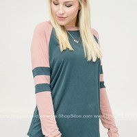 Blushing Small Town Baseball Top