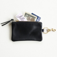 Keychain Coin Purse, Leather Keychain Wallet, Keychain Credit Card Wallet, Keychain ID Wallet, Metro Card Keychain Pouch, Keychain Zip Pouch