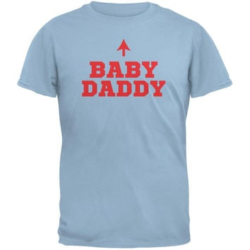 Fathers Day - Baby Daddy Light Blue Adult T-Shirt