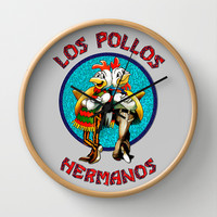 Breaking bad Los Pollos Hermanos Decorative Circle Wall Clock Watch by Three Second