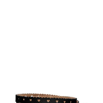 Kate Spade Heart Perforated Belt