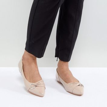 Lost Ink Patent Flat Shoes at asos.com